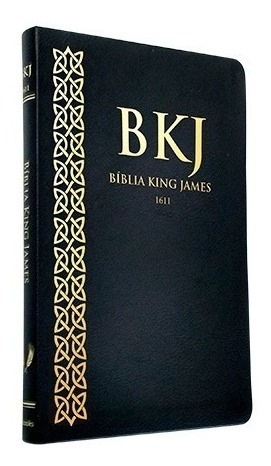 biblia slim king james fiel 1611 ultra fina capa pu preta