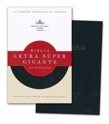 biblia super gigante simil cuero negro reina valera 1960