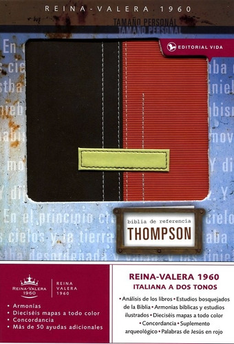 biblia thompson - personal, marrón/terracota - rvr60