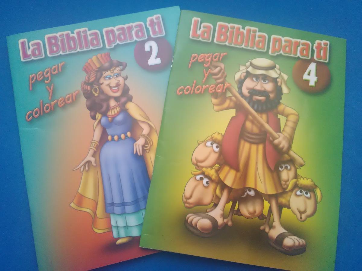 Biblia,la Biblia Para Ti Pegar Y Colorear(cartillas) 2 Y 4 ...
