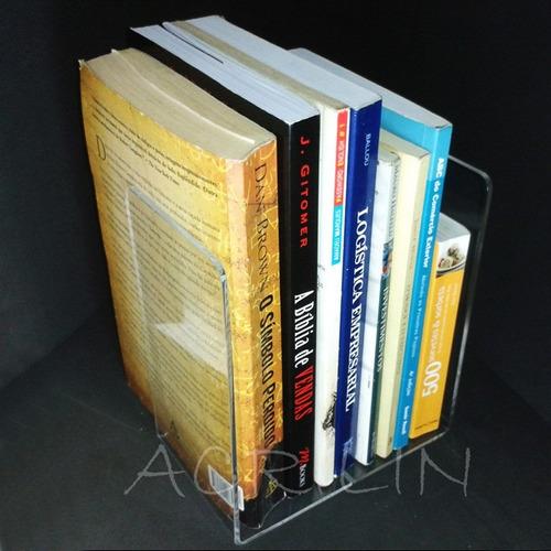 bibliocanto aparador livros em acrílico acrilin 1ªlinha 2uni