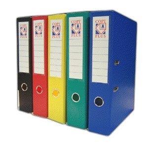 bibliorato de color oficio y a4 plastificados reforzados
