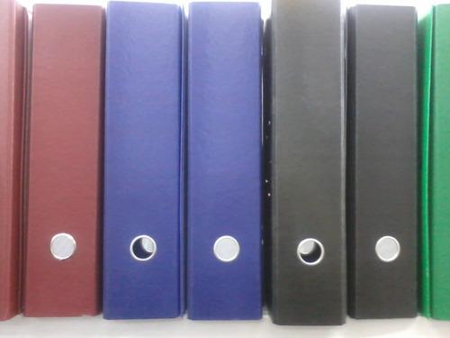 biblioratos de colores plastificados - varios modelos