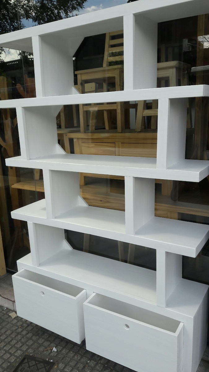 biblioteca 120 con cajones irregular estantera moderna cargando zoom - Estanteria Moderna