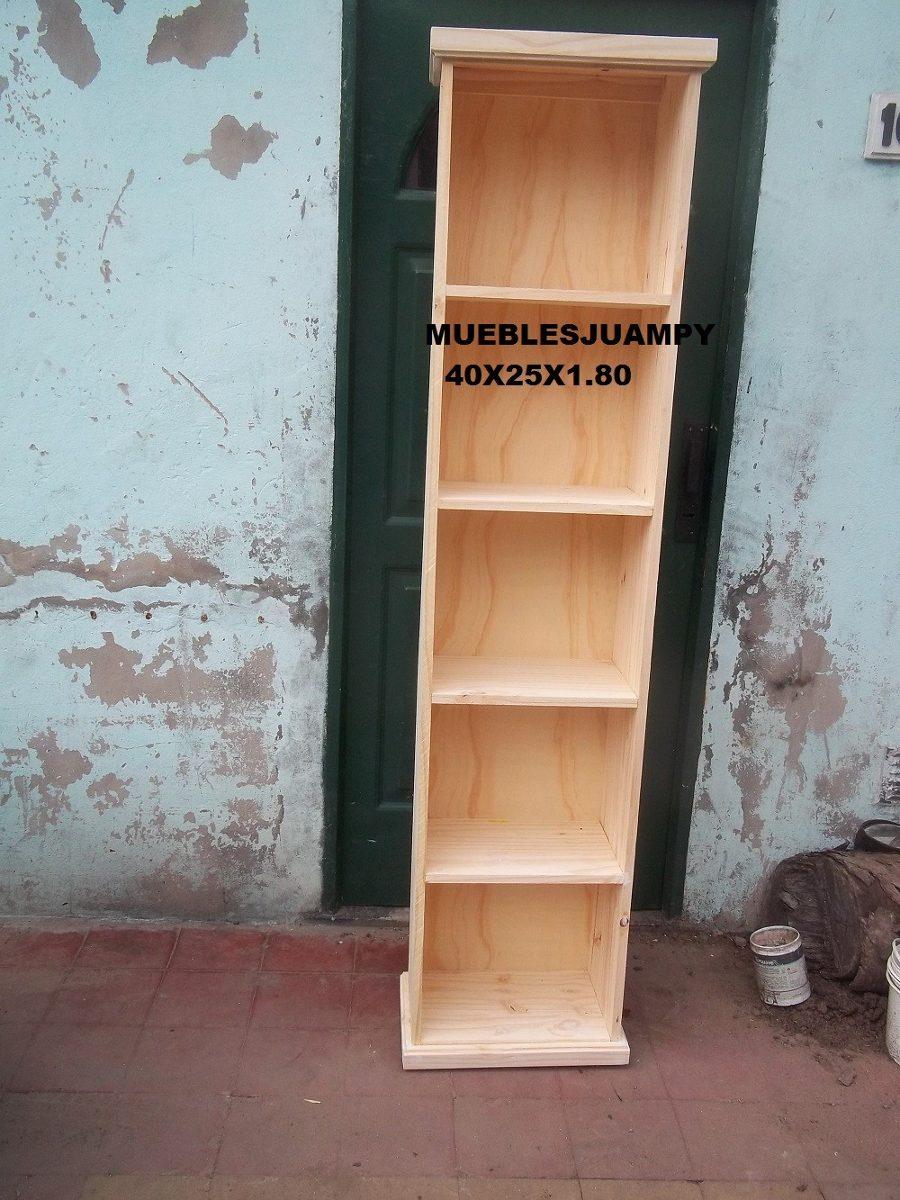 Biblioteca 40x25x1 80 450 00 En Mercado Libre # Muebles Juampy Tigre
