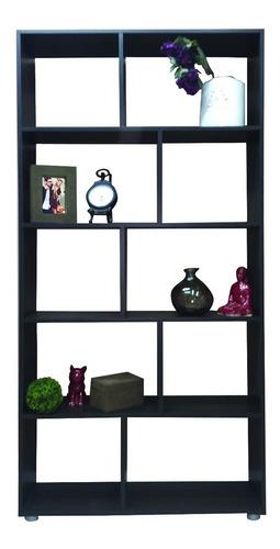 biblioteca 5 estantes cubo minimalista 90x180 moderna @