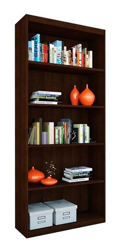 biblioteca 5 estantes melamina mosconi