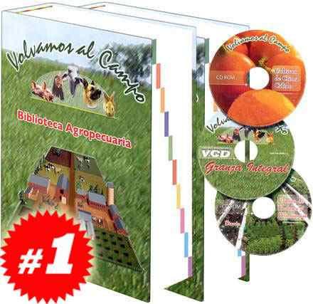 biblioteca agropecuaria 2 vols + 1 vcd + 2 cd roms