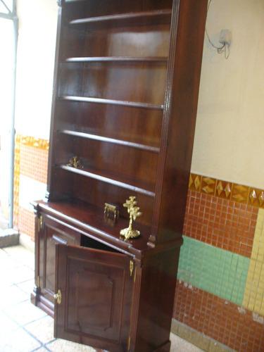 biblioteca antigua frances madera maciza bronces luis xv xvi