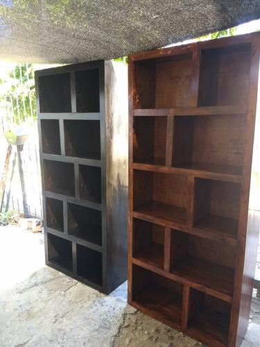 biblioteca asia irregular madera 1,80 x 80 x 0,30 pintado
