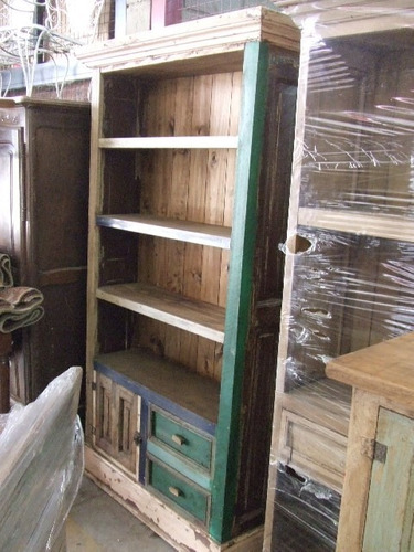 biblioteca c/ 3 estantes 2 cajones  - estilo campo