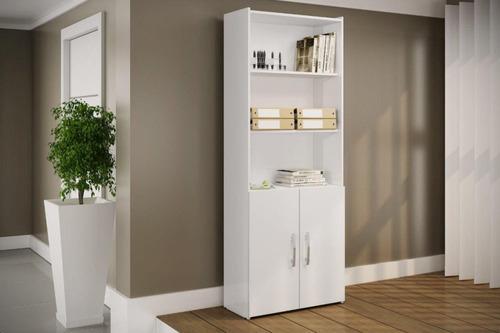 biblioteca c/ puertas - estanteria - multiuso - mueble - lcm