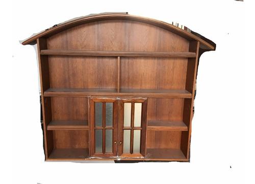 biblioteca colgante c/ 2 puertas de vidrio