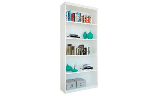 biblioteca con estantes blanca mosconi estantería repisa