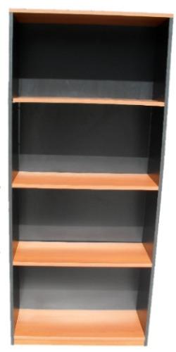 biblioteca con estantes modulo estanteria en melamina promo!