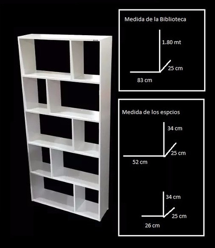 biblioteca cubo blanco repisa modular 006-cubo -401