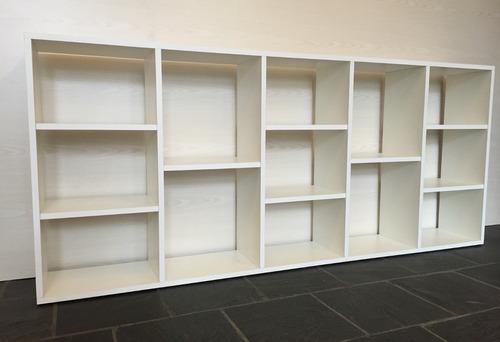 biblioteca - cubos divisor organizador melamina blanco 18mm