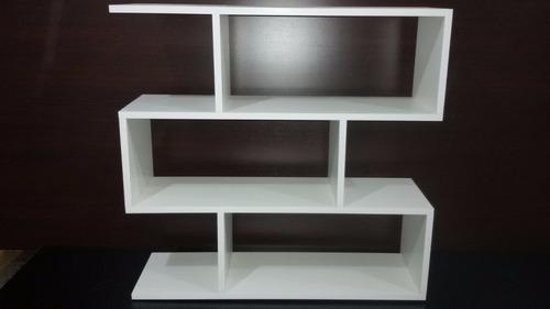 biblioteca de apoyo cubo minimalista estante repisa  18mm