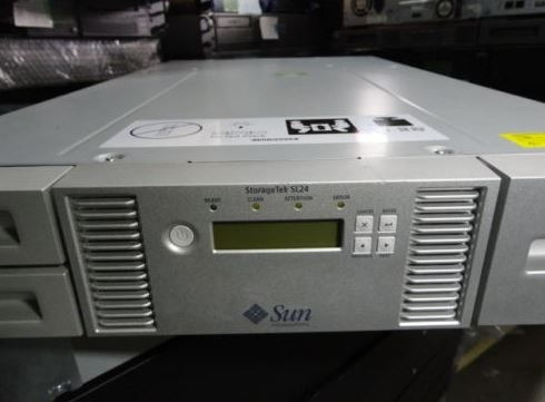 biblioteca de fitas de backup sun storagetek sl24 454340-002