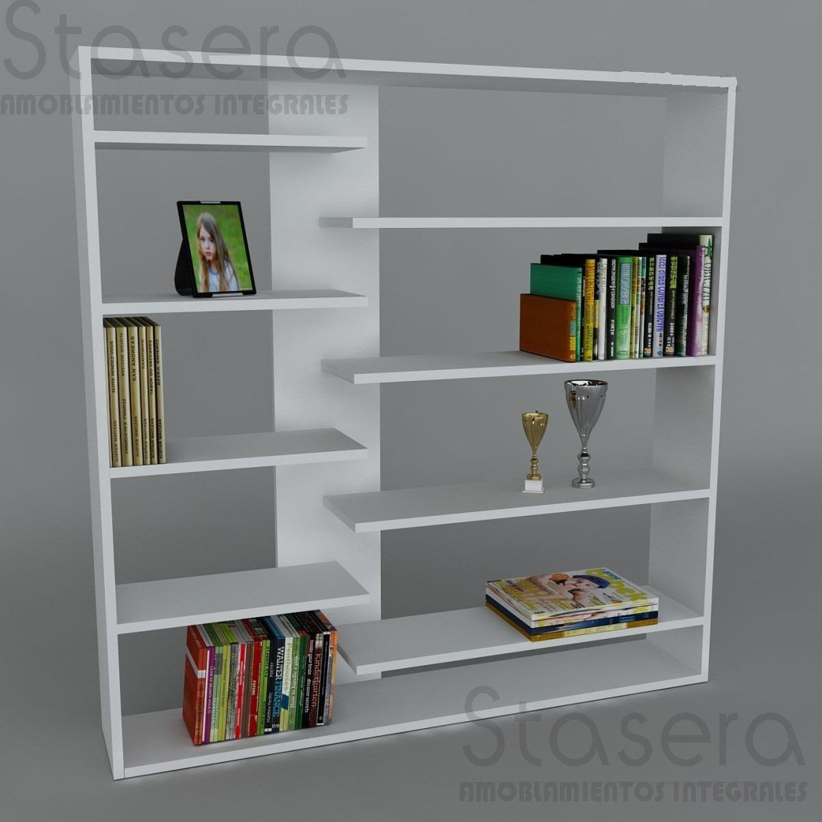 Mueble Repisa Divisorio De Ambientes D C 90 Melamina Blanco  # Muebles Divisorios