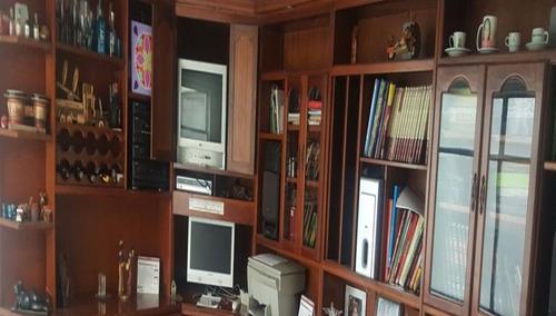 biblioteca en cedro completa de segunda mano