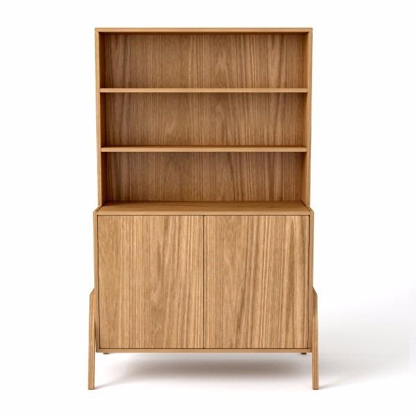Biblioteca en mdf de 18mm con lamina de madera lustrada - Laminas de madera ...