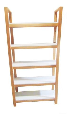 biblioteca escandinava madera maciza estantería laqueada