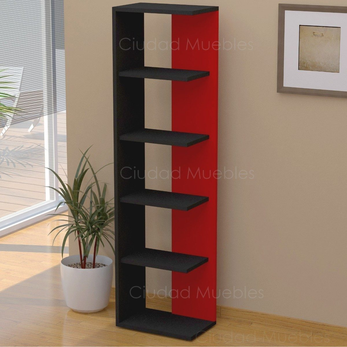 Biblioteca estante de melamina s 160 00 en mercado libre for Libro de muebles de melamina