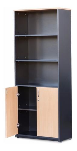 biblioteca estantería archivador armario 2 puertas. cedro