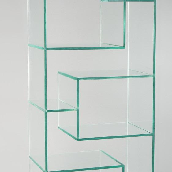 Estanterias de vidrio estantera de bao modelo loop e estantera de hierro y vidrio dorado - Estanterias con cristal ...