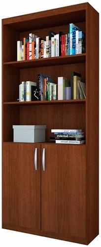 biblioteca estantes con puertas estanteria mueble despensero