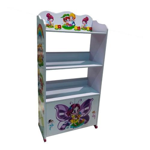 biblioteca infantil estanteria con puertas y ruedas