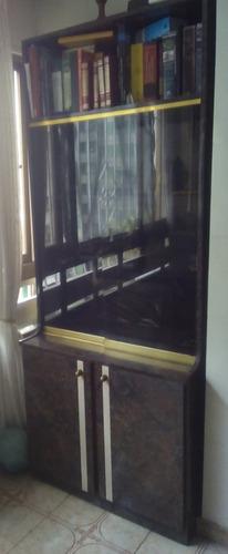 biblioteca madera y formica precio x módulo 2mts alto x 80cm