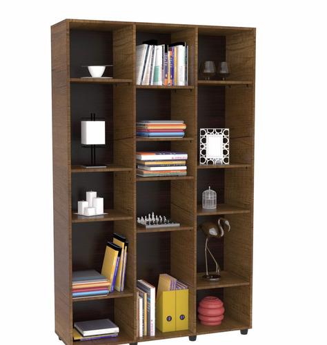 biblioteca maderkit sin puertas 114x187x35 cm caramelo