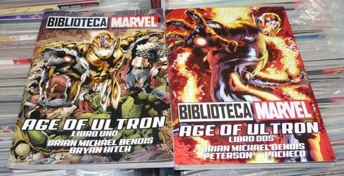 biblioteca marvel era de ultron libro uno  y libro dos