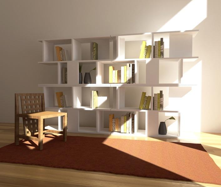 Muebles biblioteca biblioteca escritorio modelo bricolage for Modelar muebles