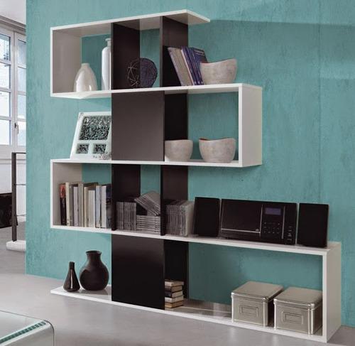 biblioteca modulo repisa estante minimalista melamina