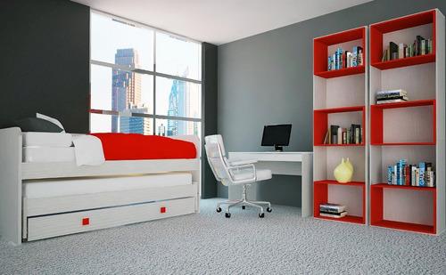 biblioteca mosconi oficina 3 cubos 63x36x212 cm.