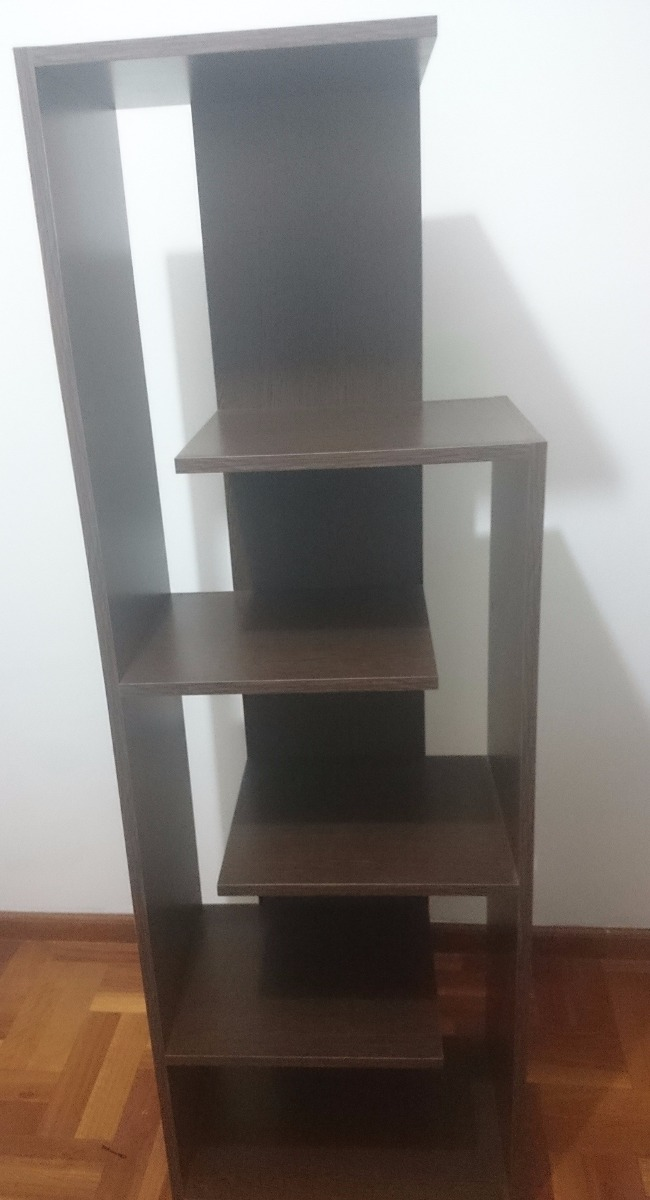 Biblioteca mueble estante melamina deco color wengue    600,00 en ...