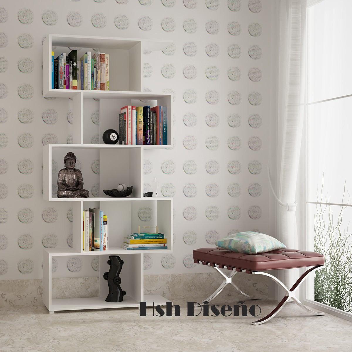 Biblioteca Mueble Minimalista Moderno Living Decoraci N 2 280  # Muebles Bibliotecas Para Living