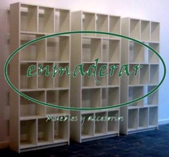 biblioteca organizador modular estanteria de melamina oferta