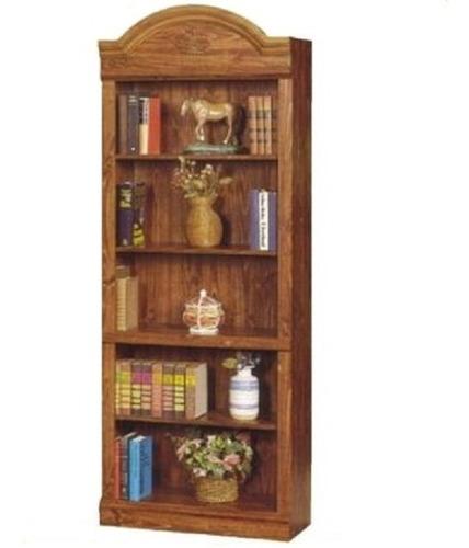 biblioteca repisa esilo colonial moldurada 5 espacio kromo-s