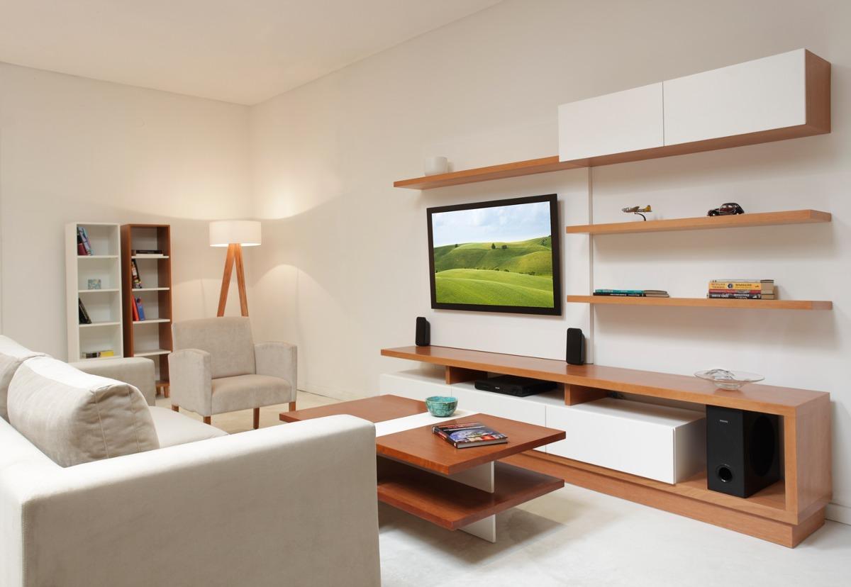 Muebles repisas para living obtenga ideas dise o de for Muebles modernos para living