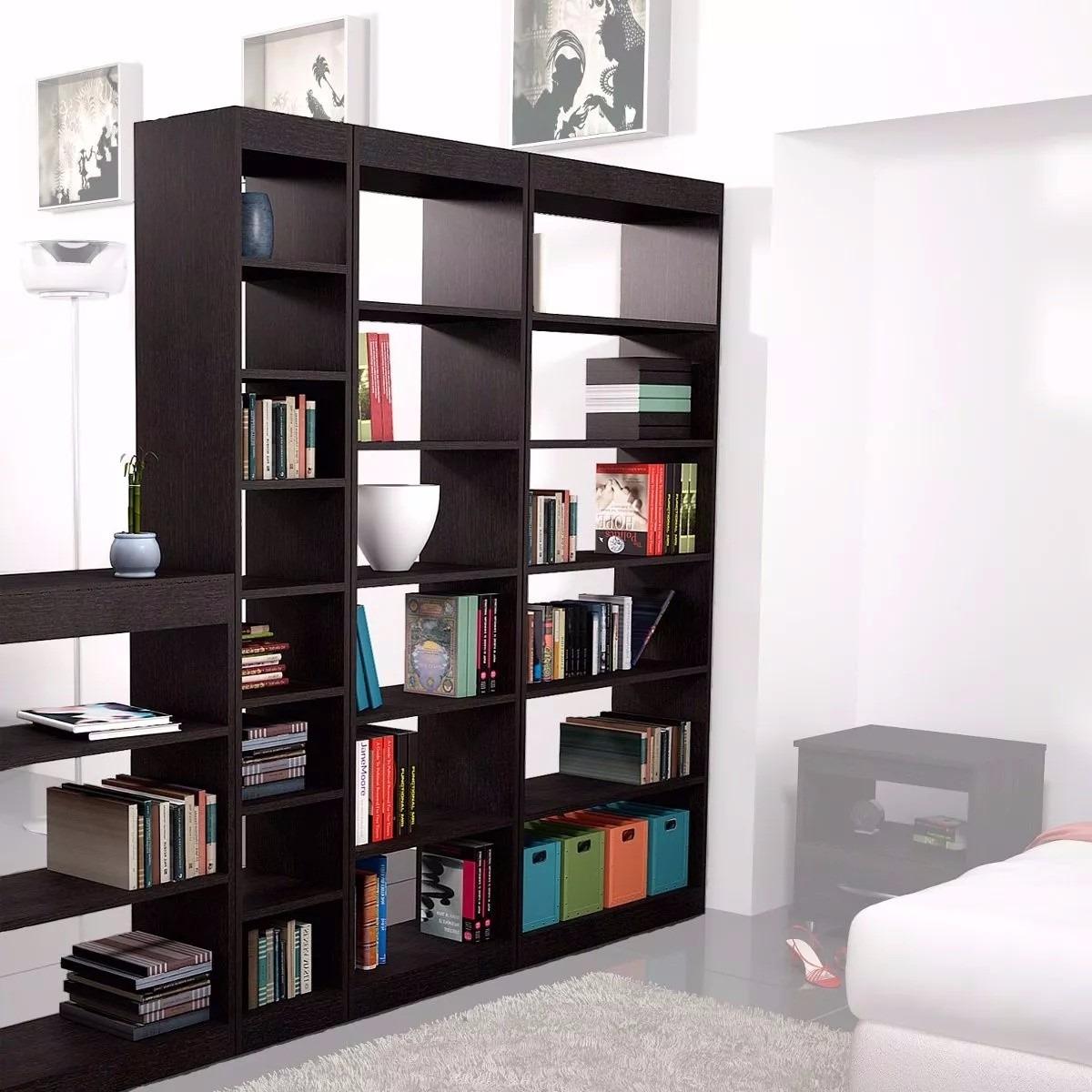 Biblioteca tipo separador de ambientes en for Bibliotecas muebles