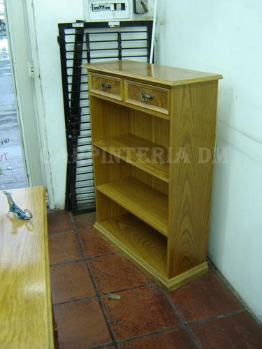 biblioteca todo estantes roble / carpinteriadm