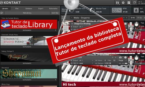 biblioteca tutor de teclado completa