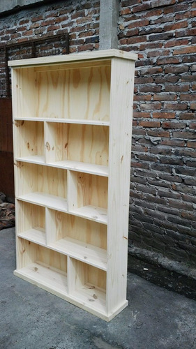 bibliotecas de pino- bibliotecas repartidas-180x80x25