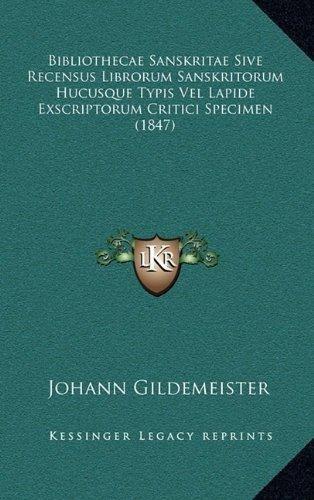 bibliothecae sanskritae sive recensus librorum sanskritorum