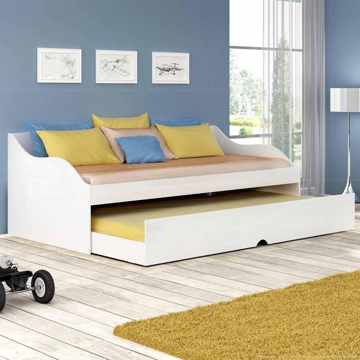 Bicama baba estilo sofa solteiro lais branco sem colch o for Sofa que vira beliche onde comprar