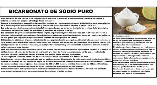 bicarbonato de sodio 250 gramos  (sin metales ) grado usp